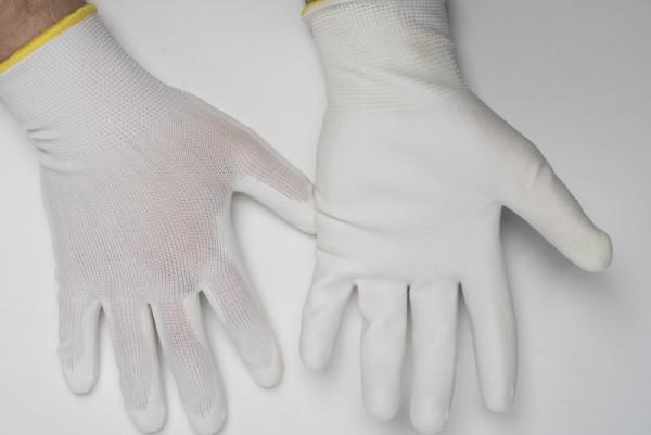Strickhandschuhe weiß