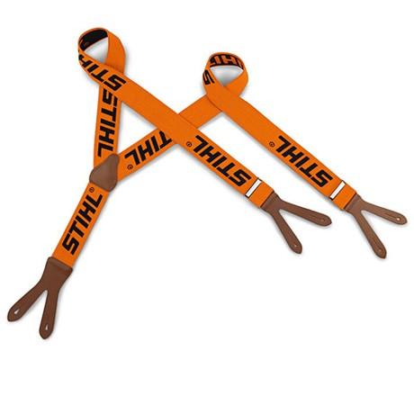 Stihl Hosenträger orange zum Knöpfen