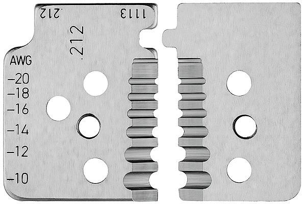 KNIPEX 1 Satz Ersatzmesser für 12 12 13 mit Formmessern