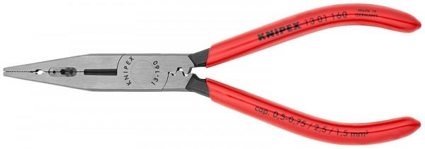 KNIPEX Verdrahtungszange schwarz atramentiert mit Kunststoff überzogen