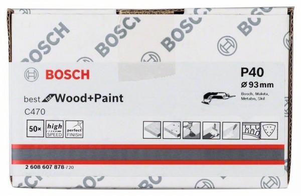 Schleifblatt C470, 93 mm, 6 Löcher, Klett, 50er-Pack